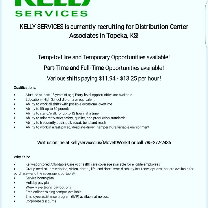 Now Hiring in Topeka, KS! Jobs in Topeka, KS - Kelly Services - call center job description