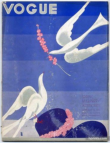 Vogue USA 1933 January 15th Benito, René Bouët-Willaumez, Jean Pagès