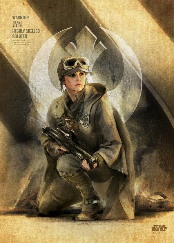 "Official Star Wars Rogue One Key Forces Jyn Erso #Displate artwork by artist ""Star… 