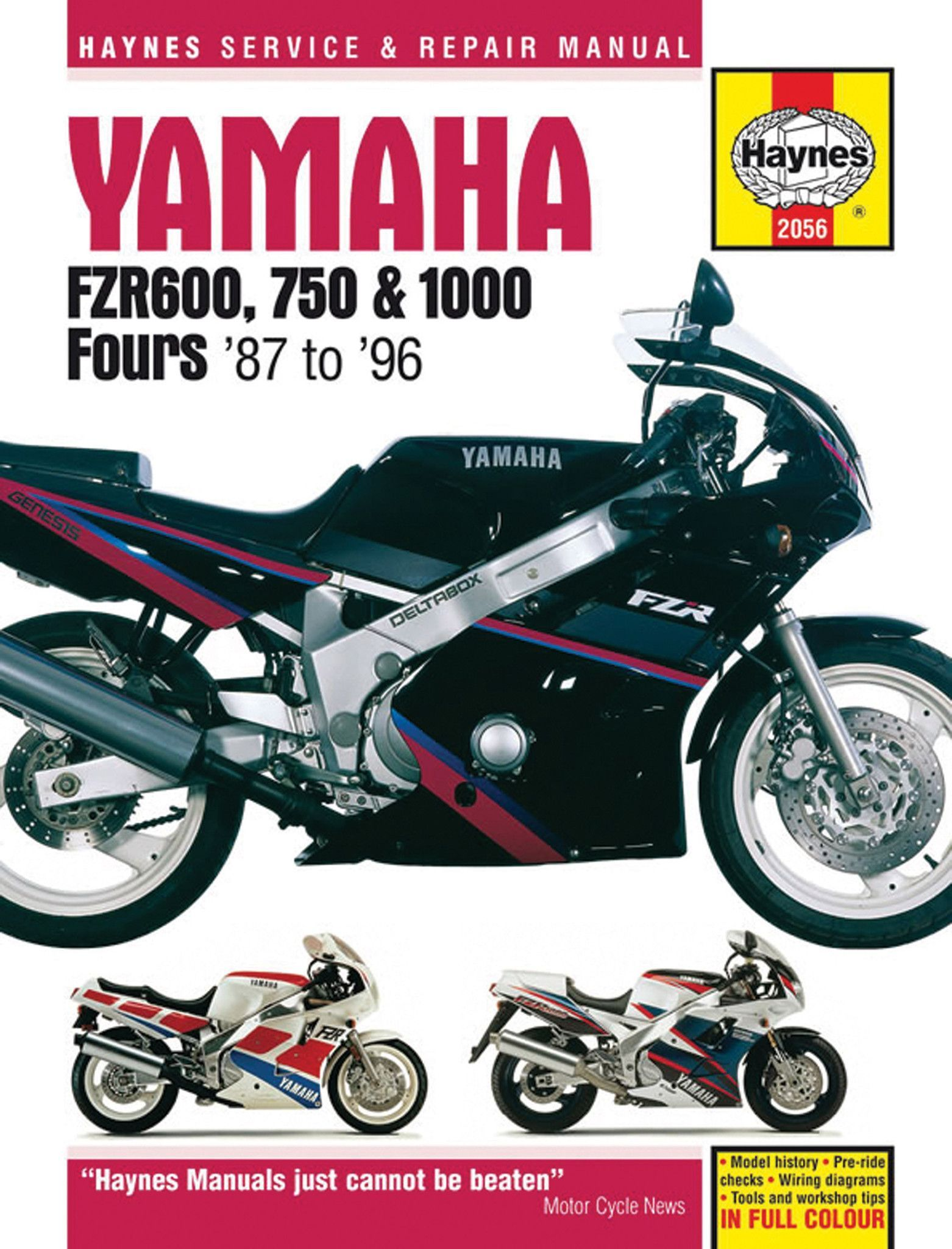 haynes m2056 service repair manual for yamaha fzr600 fzr750 rh pinterest com