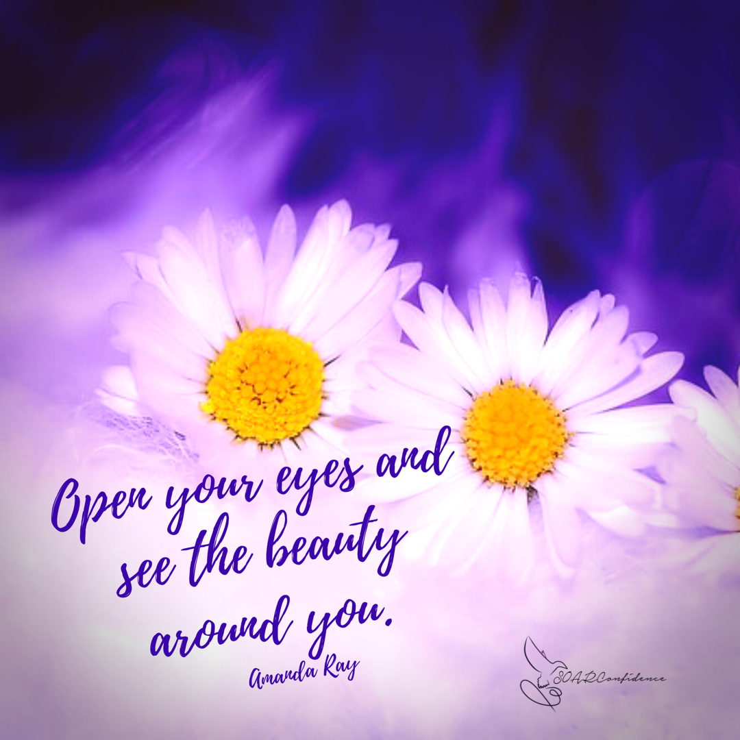 Joy and beauty are all around us. We just get too busy and