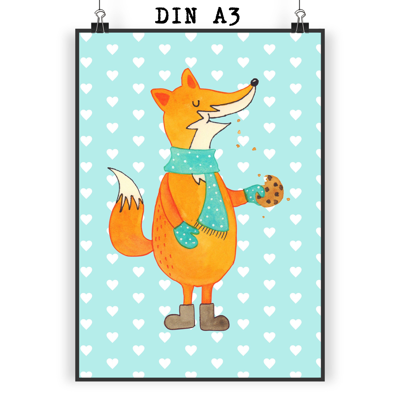 Poster DIN A3 Fuchs Keks aus Papier 160 Gramm  weiß - Das Original von Mr. & Mrs. Panda.  Jedes wunderschöne Motiv auf unseren Postern aus dem Hause Mr. & Mrs. Panda wird mit viel Liebe von Mrs. Panda handgezeichnet und entworfen.  Unsere Poster werden mit sehr hochwertigen Tinten gedruckt und sind 40 Jahre UV-Lichtbeständig und auch für Kinderzimmer absolut unbedenklich. Dein Poster wird sicher verpackt per Post geliefert.    Über unser Motiv Fuchs Keks  Die Fox-Edition ist eine besonders…