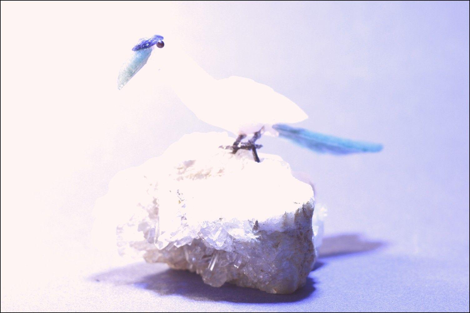 Oiseau pierre semi-précieuse 12