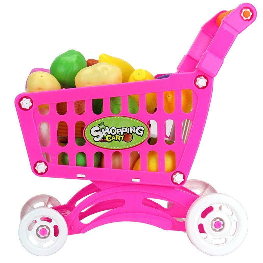 Kizaen Shopping Cart Toy Kids Educational Toy Fruit