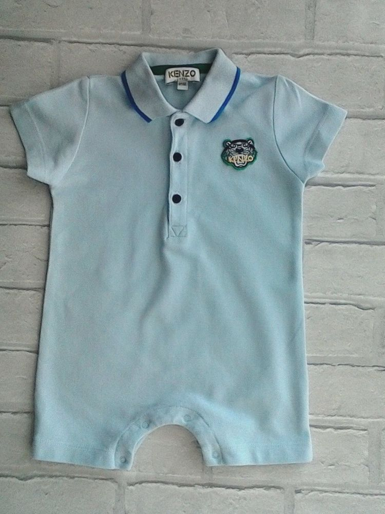 bcc787b53 Baby Boys Pale Blue Kenzo Romper 6 months | Children clothes, Baby ...