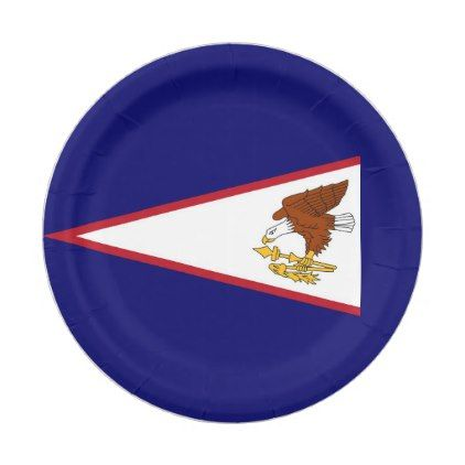 Patriotic paper plate with flag of American Samoa - elegant gifts gift ideas custom presents  sc 1 st  Pinterest & Patriotic paper plate with flag of American Samoa - elegant gifts ...