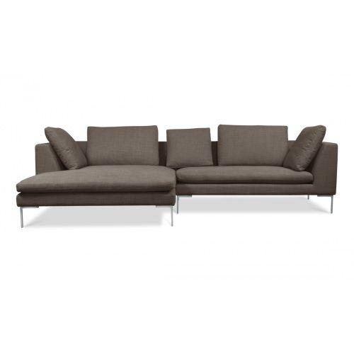 Ecksofa Trikona II Grau-Braun Premium Rechts günstig online kaufen - wohnzimmer couch günstig
