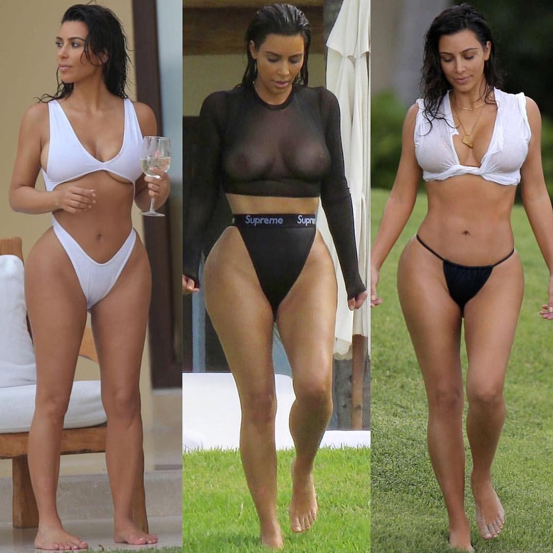 Kim Kardashians Body Painted On Gold