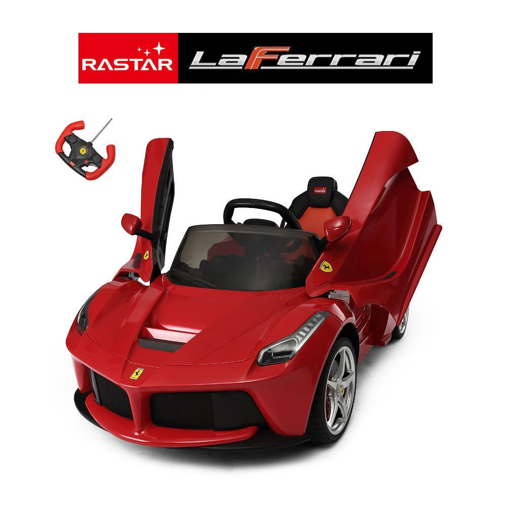 New Official La #ferrari 12v Ride On Kids #electric #childrens Toy Car With