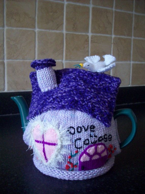 Cozy Time Thirteen Lust Worthy Fireplaces: Knitted Tea Cosy Cozy Cosie Dove Cottage Shabby Chic By