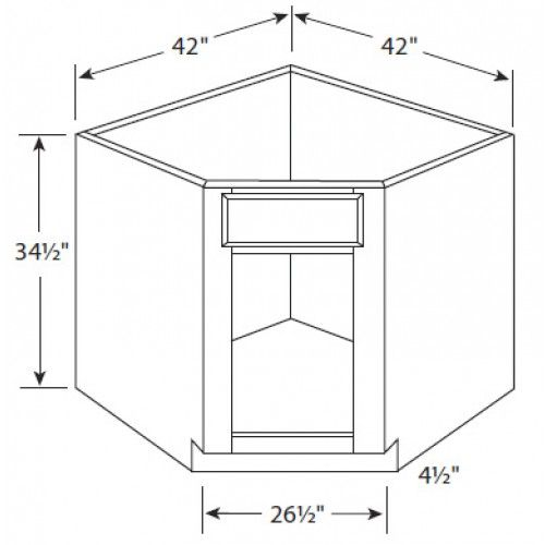Corner Kitchen Sink Base Cabinet Dimensions Review Of 10 Ideas