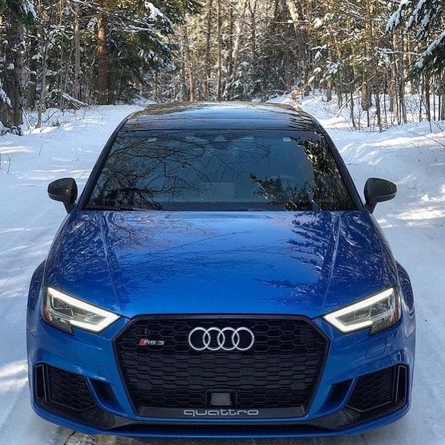 A snowy day for the audi RS3 • • • • •