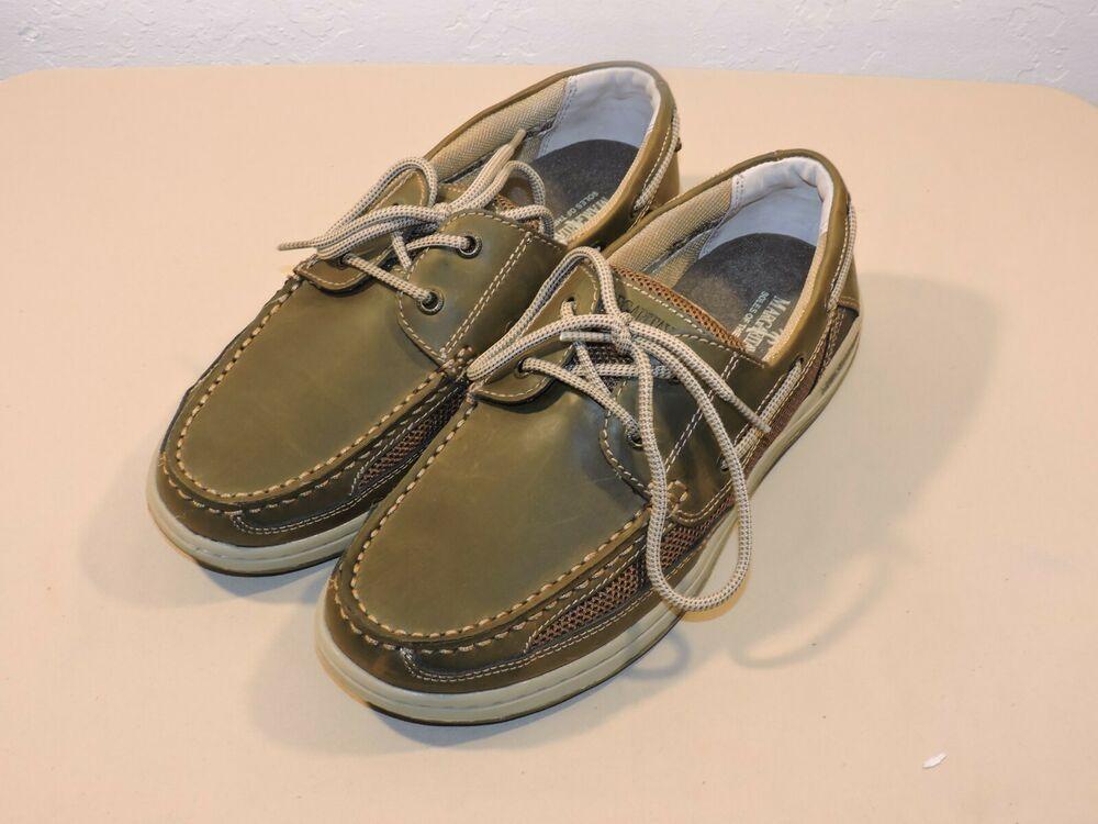 7999394c5dad Men's Margaritaville Anchor Lace up Boat Shoes - Size 9 Brown ...