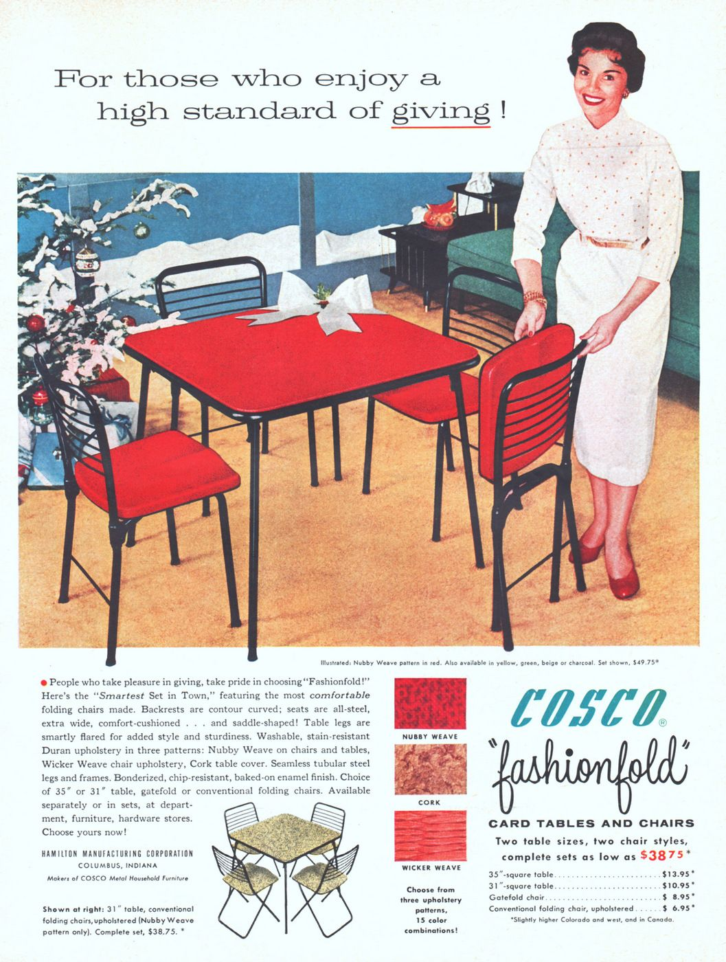 Folding Card Table Canada Cosco Card Tables And Chairs 1955 Ad Picture Cosco Heritage