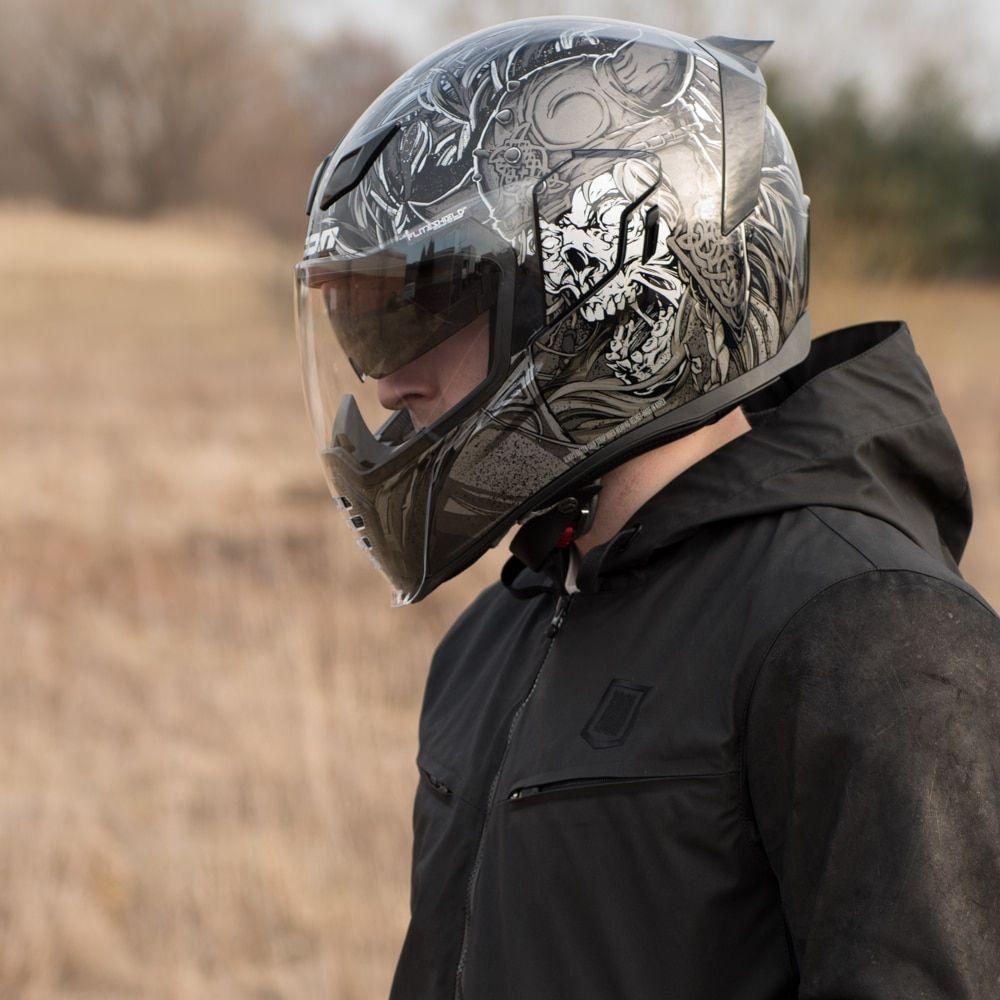 Icon Airflite Krom Helmet Black Icon helmets, Icon