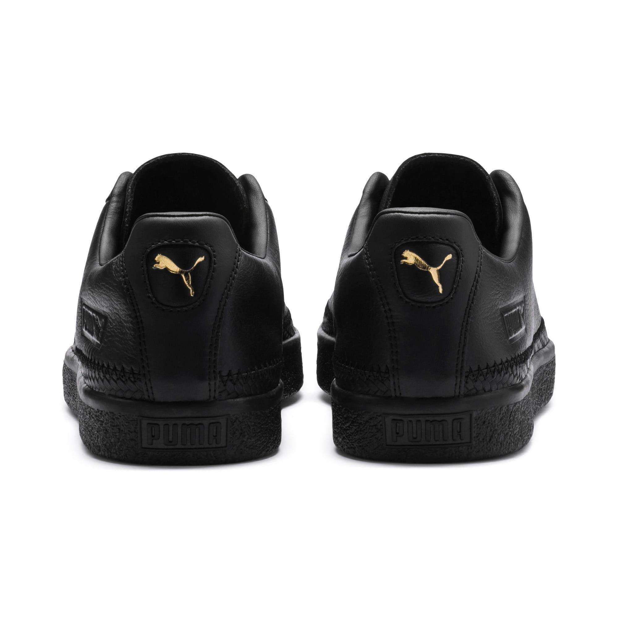 Puma Basket Trim Shoe Sneakers In Black Gold Size 3 5 Chaussure Basket