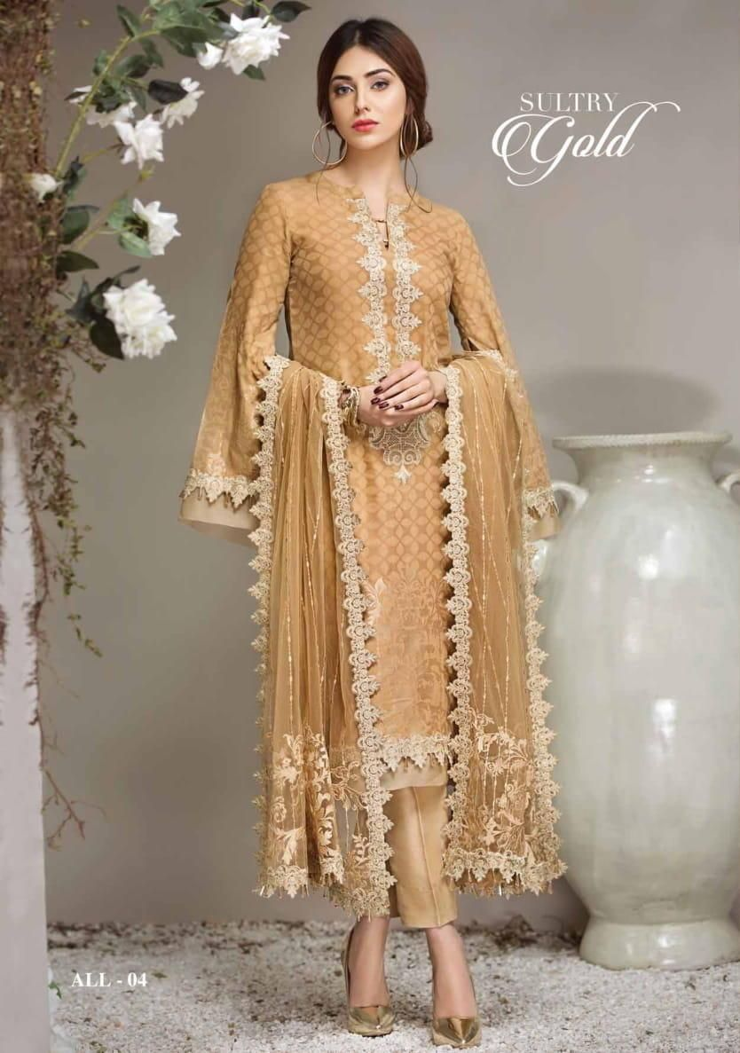 b4bcaad474 Anaya Luxury Lawn 2018 Sultry Gold ALL04 | Suits | Indian dresses ...