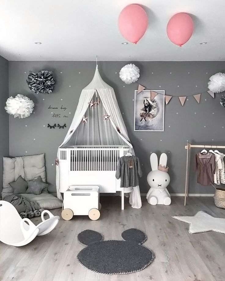 "Photo of Interior & Scandinavian Homes on Instagram: ""We just love this gorgeous little girl's room by @stine.moi ?? Featuring Ooh Noo toy chest and Miffy lamp, all available in our online…"""