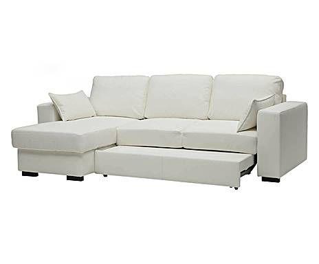 Divano Letto Bianco Ecopelle : Sfumature di bianco divano letto in ecopelle con penisola e