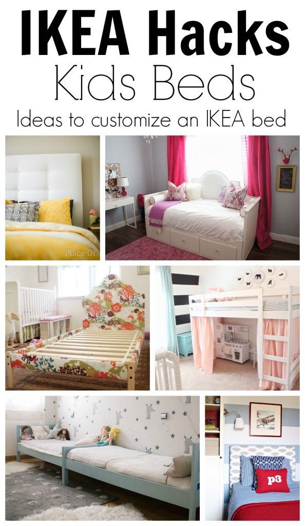 ikea hack ideas to customize kids beds getting crafty diy. Black Bedroom Furniture Sets. Home Design Ideas