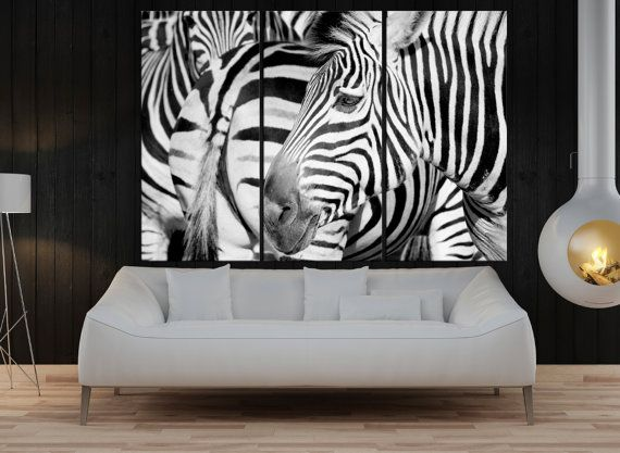 Large Wall Art For Living Room, Zebra Canvas Print Extra Large Wall Art  Black And White Canvas Art, Modern Art Print For Office Decor 8s38