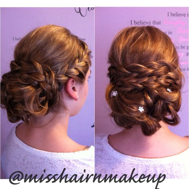 Wedding Hairstyles For Junior Bridesmaids: French Braid Updo That I Did Today For A Junior Bridesmaid