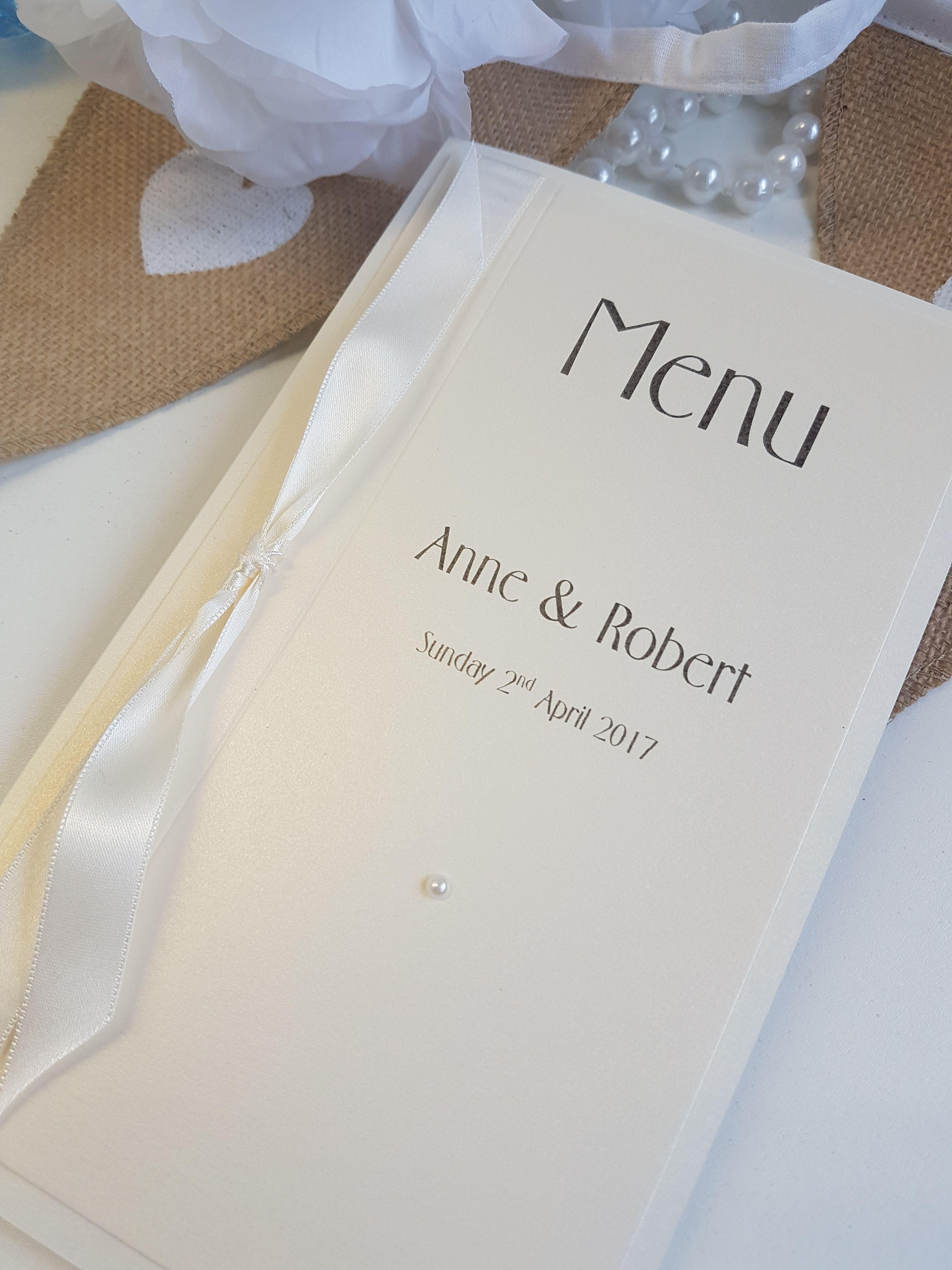 Traditional Wedding Menu cards. Wedding breakfast inspiration ...