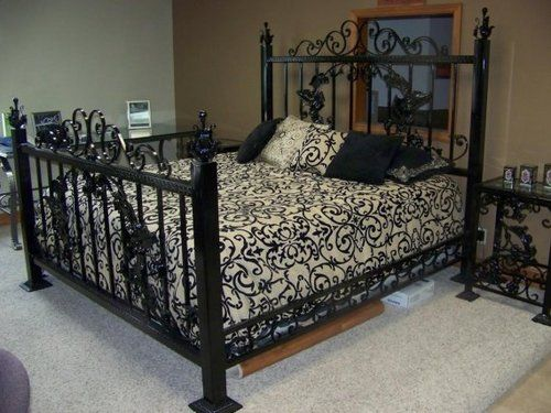 Gothic Bed Tumblr With Images Wrought Iron Beds Black Iron