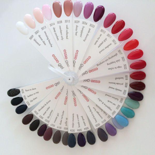 Essie gel colors | Nails | Pinterest | Diseños de uñas, Esmalte en ...