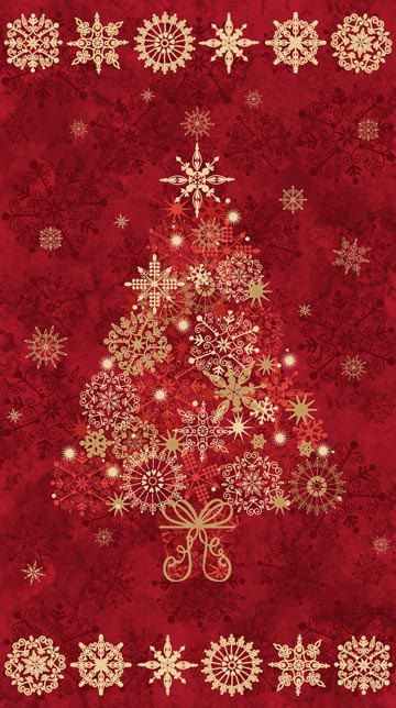 Starry Night Stonehenge Christmas Quilt Fabric Cranberry Tree Panel 24 x 42  on Etsy, $11.62 CAD - Starry Night Stonehenge Christmas Quilt Fabric Cranberry Tree Panel
