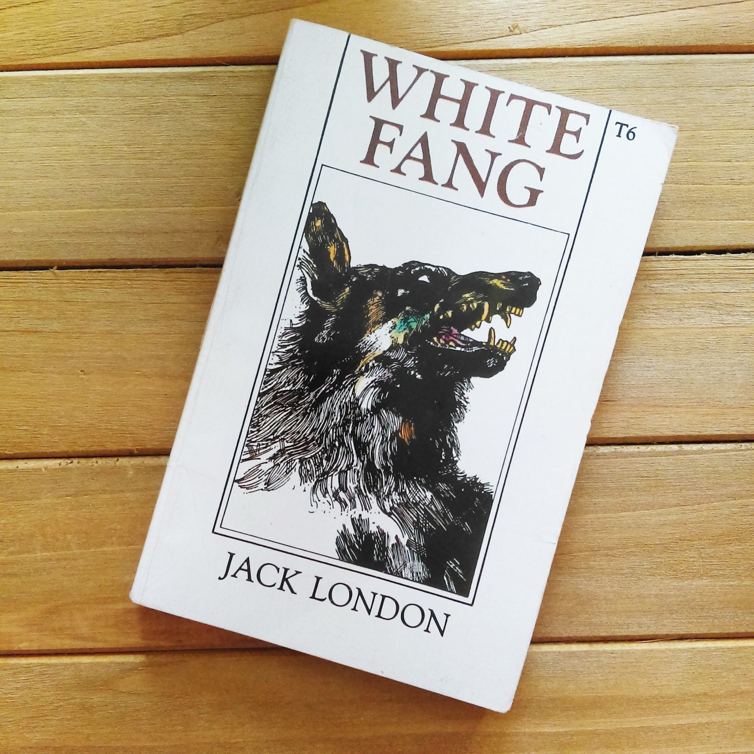 Vintage White Fang Book By Jack London Native