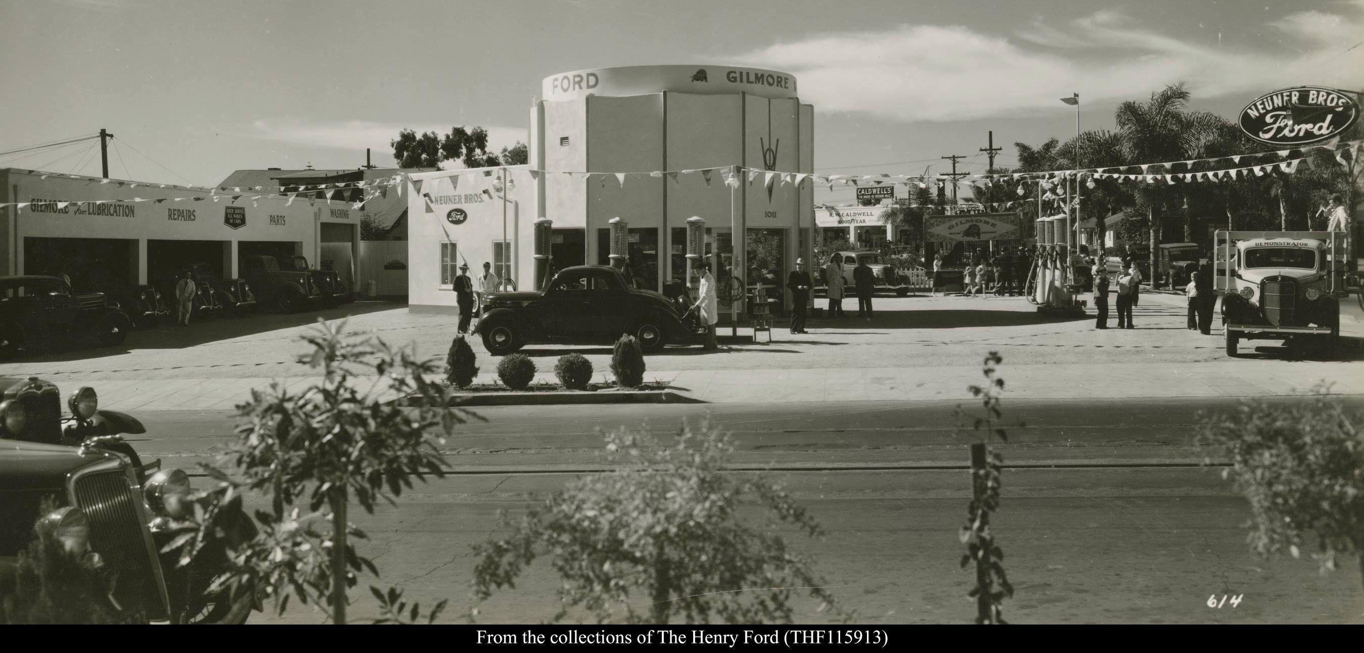 The Neuner Brothers Ford Dealership Building in Mission Hills San