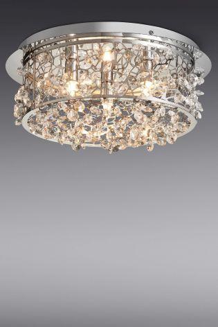 Buy Flush 3 Light From The Next Uk Online Shop Flush Ceiling Lights Uk Ceiling Lights Chandelier Uk