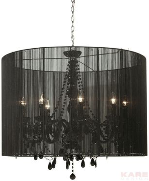 Lampara De Suspencion Gioiello Surprise Negra 92 Pendant Lamp Chandelier Lamp Light