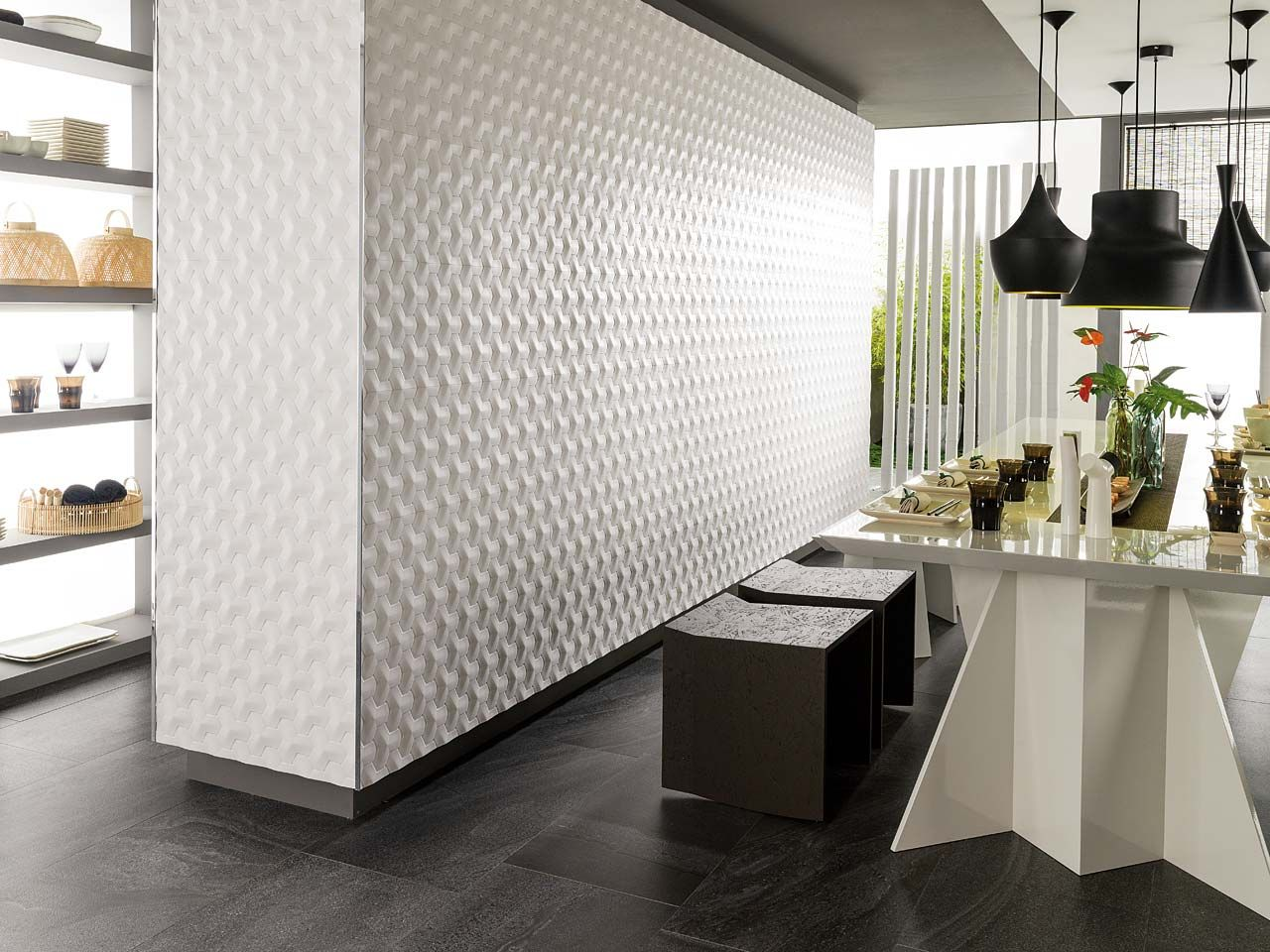 Porcelanosa tile: Oxo Hannover Blanco 31,6 x 90 cm Inspiration ...