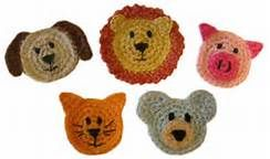 Free crochet animal applique patterns bing images crochet hats