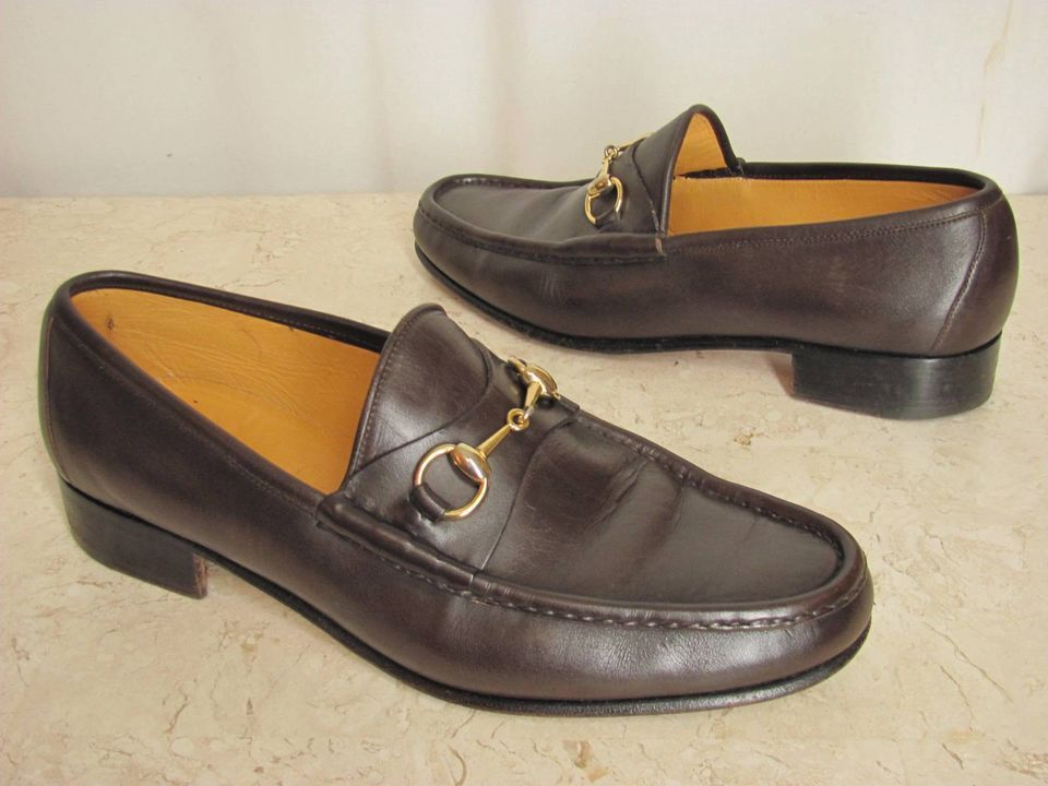 e7a434979 Get yourself some bargain Gucci's! Gucci Shoes Men's size 11 M. Gold Horse  Bit, Brown Leather Loafers. Made in Italy. Euro size 44.5
