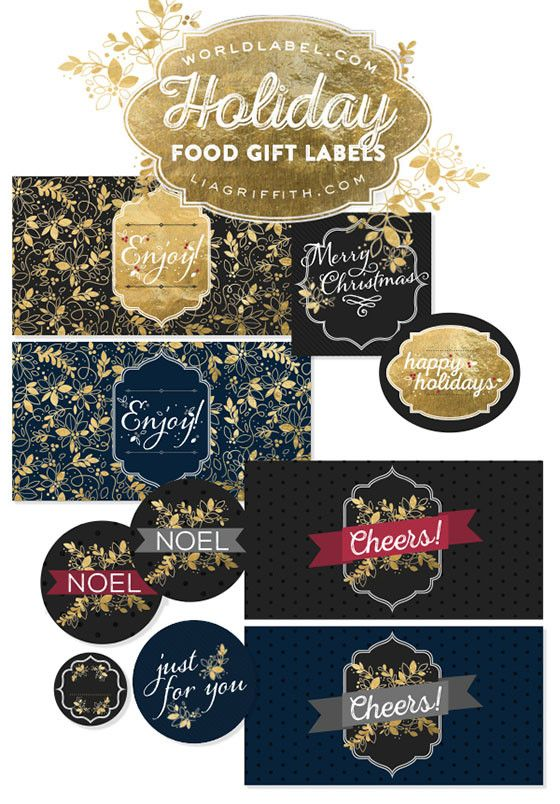 last minute food gift labels for the holidays crafting 101