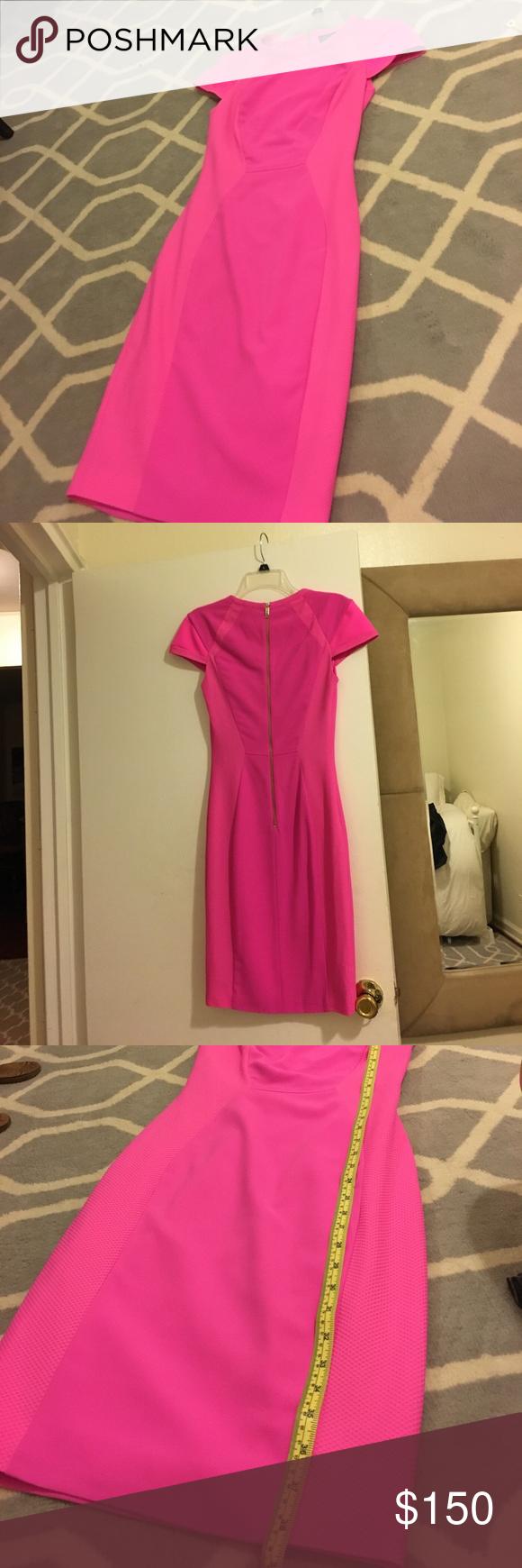 Ted Baker London Hot Pink Pencil dress