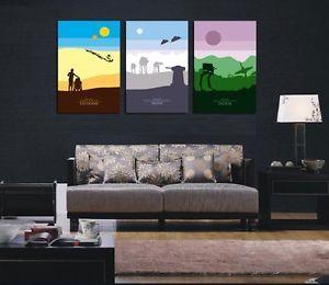 HD Print Oil Painting Home Decor Art on Canvas Star Wars 3PCS Unframed