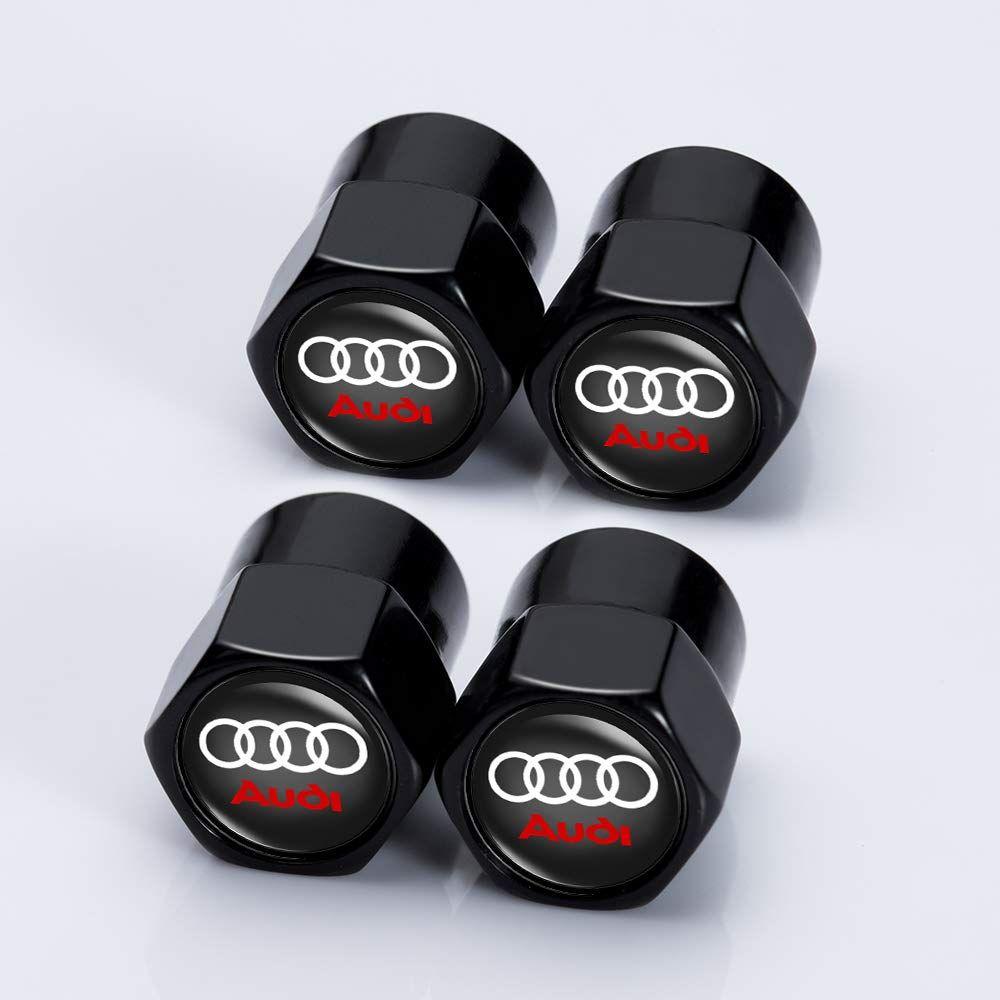 Kaolele 4 Pcs Metal Car Wheel Ti Valve Stem Caps Audi Tt Car
