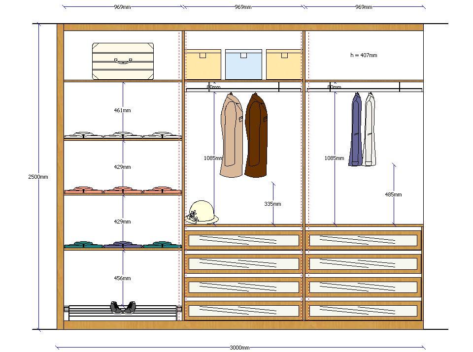 Alzado armario 1 walking closet pinterest alzado for 1800 closets