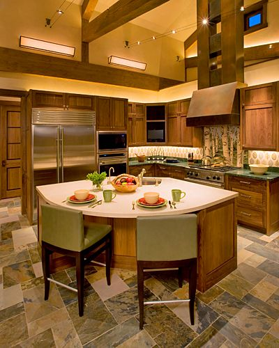Comfortable And Eco-friendly Rocky Mountain Kitchen