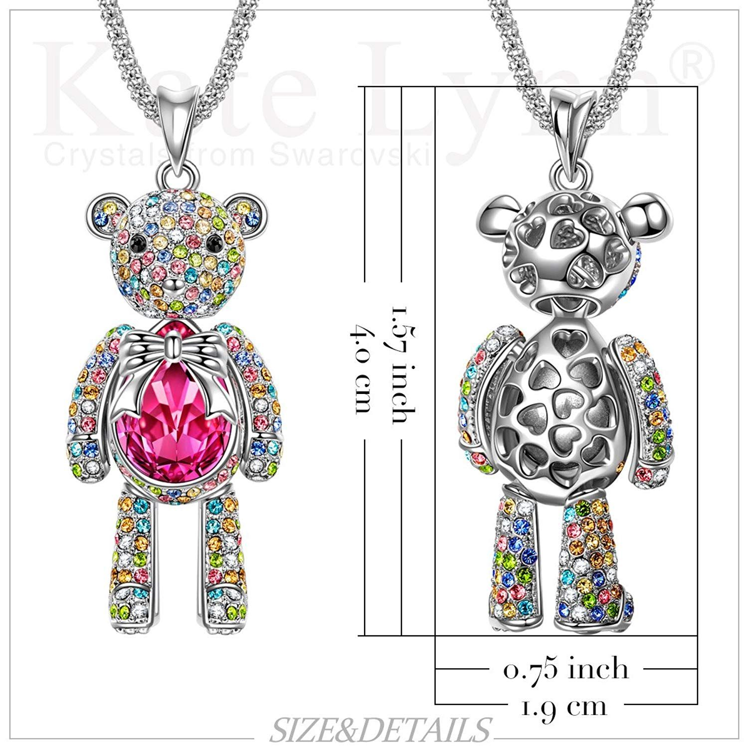 8e5b446389 Christmas Gifts for Girls with SWAROVSKI Crystals KATE LYNN 'Sweetheart'  Teddy Bear Rose Pink