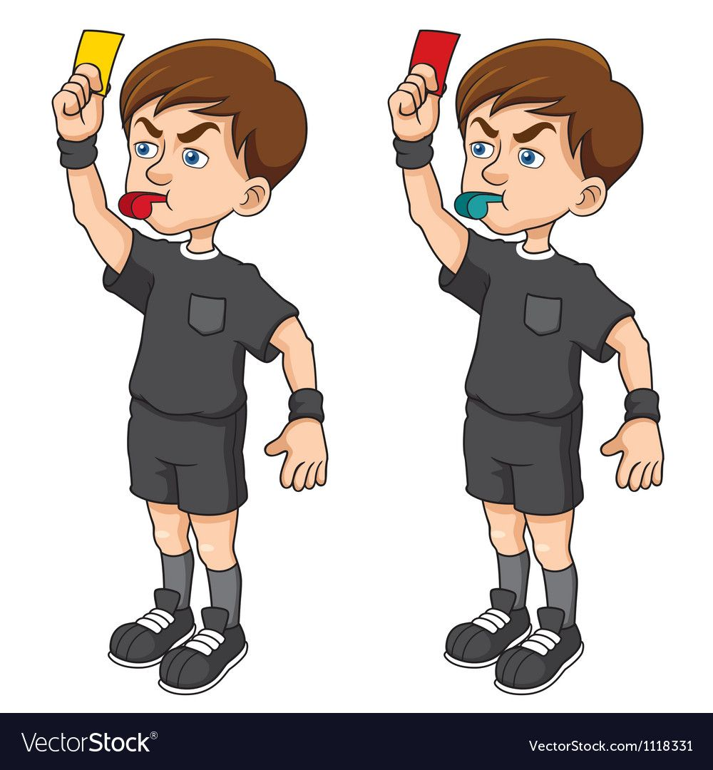 Soccer Referee Vector Image On Vectorstock Soccer Referee Soccer Referee