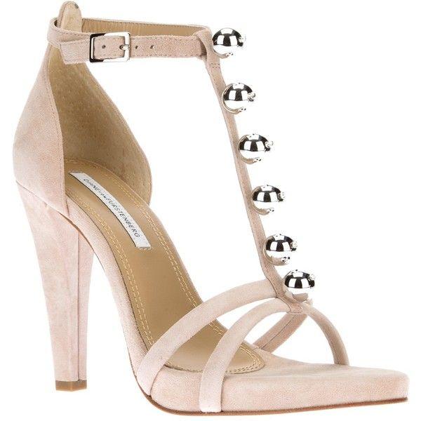 DIANE VON FURSTENBERG Sanaa t-bar sandal ($383) found on Polyvore