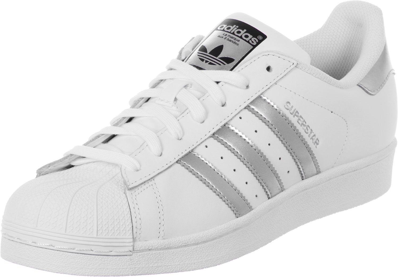 Adidas Superstar Originals Silber Adidas Damen Adidas Superstar Weiss Turnschuhe