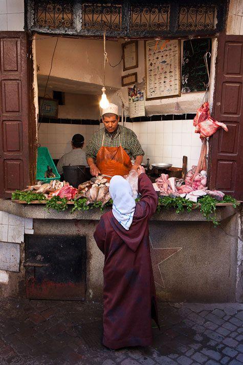 Local market . Marrakech