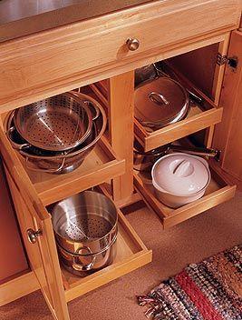 Traditional Kitchen Cabinets Kitchen Innovation Pot Storage