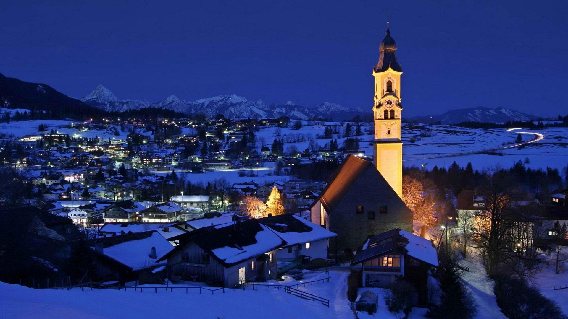 Christmas In The Alps Village In The Alps Germany Wallpaper 569291 Ferry Building San Francisco Tourism Germany